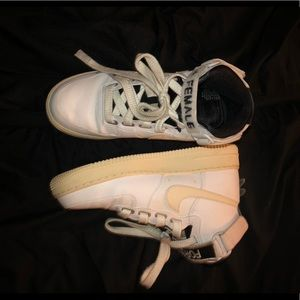 high top airfroces off white & white